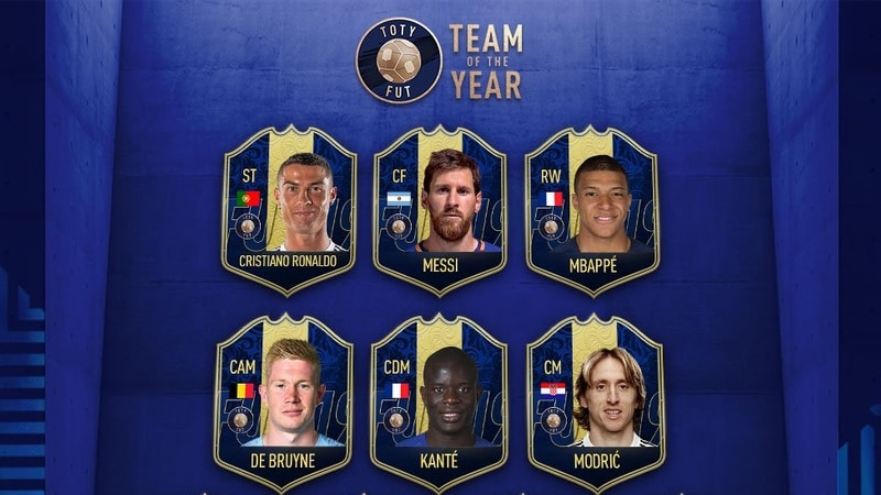 FIFA 19 Team of the Year Announced: Are Messi, Ronaldo, and Mbappe in Your TOTY?