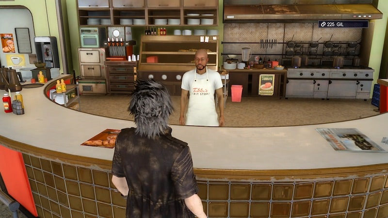 final fantasy XV restaurant GIL final_fantasy_XV