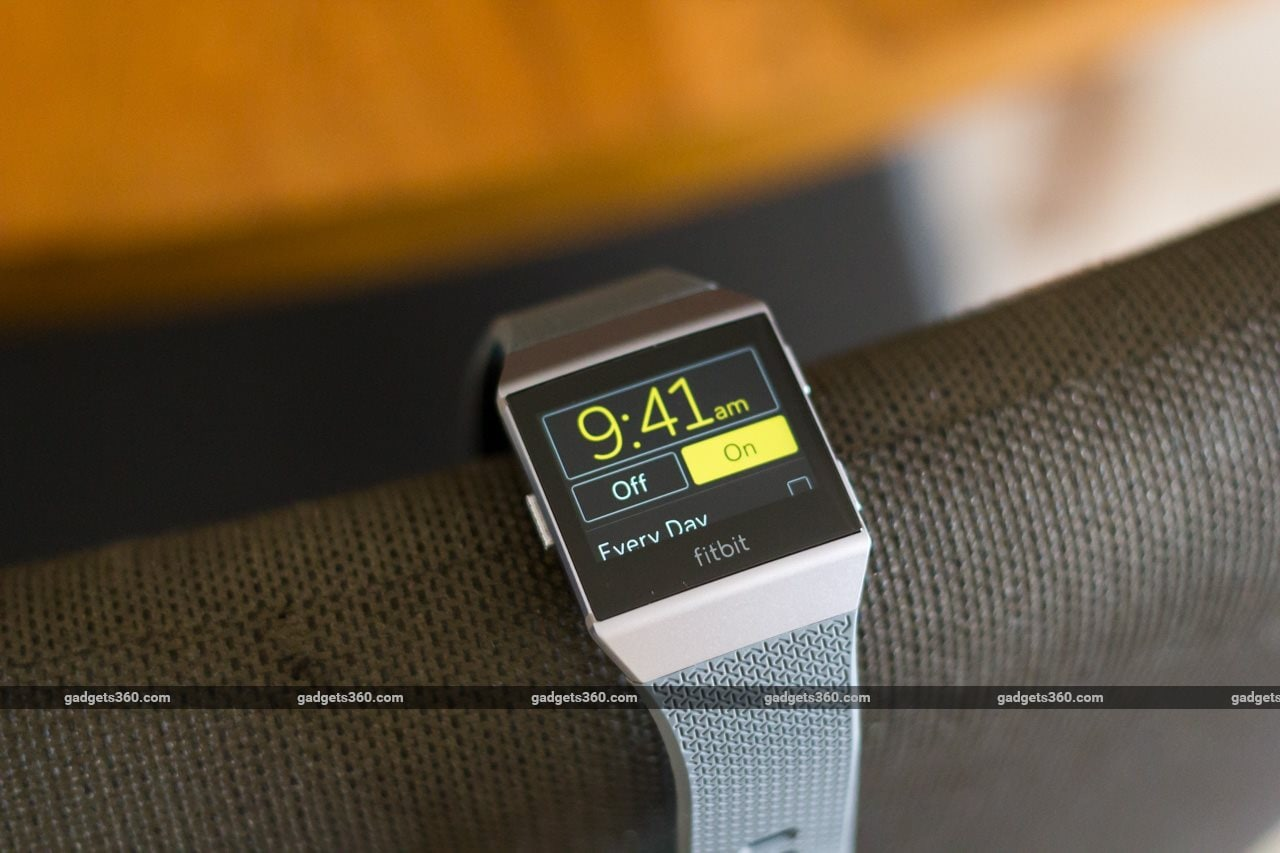 fitbit ionic review alarm Fitbit Ionic
