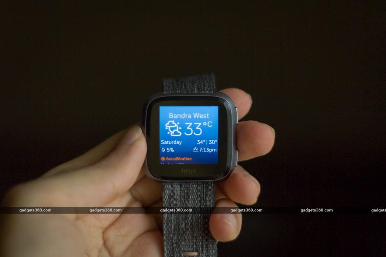 fitbit versa weather Fitbit Versa