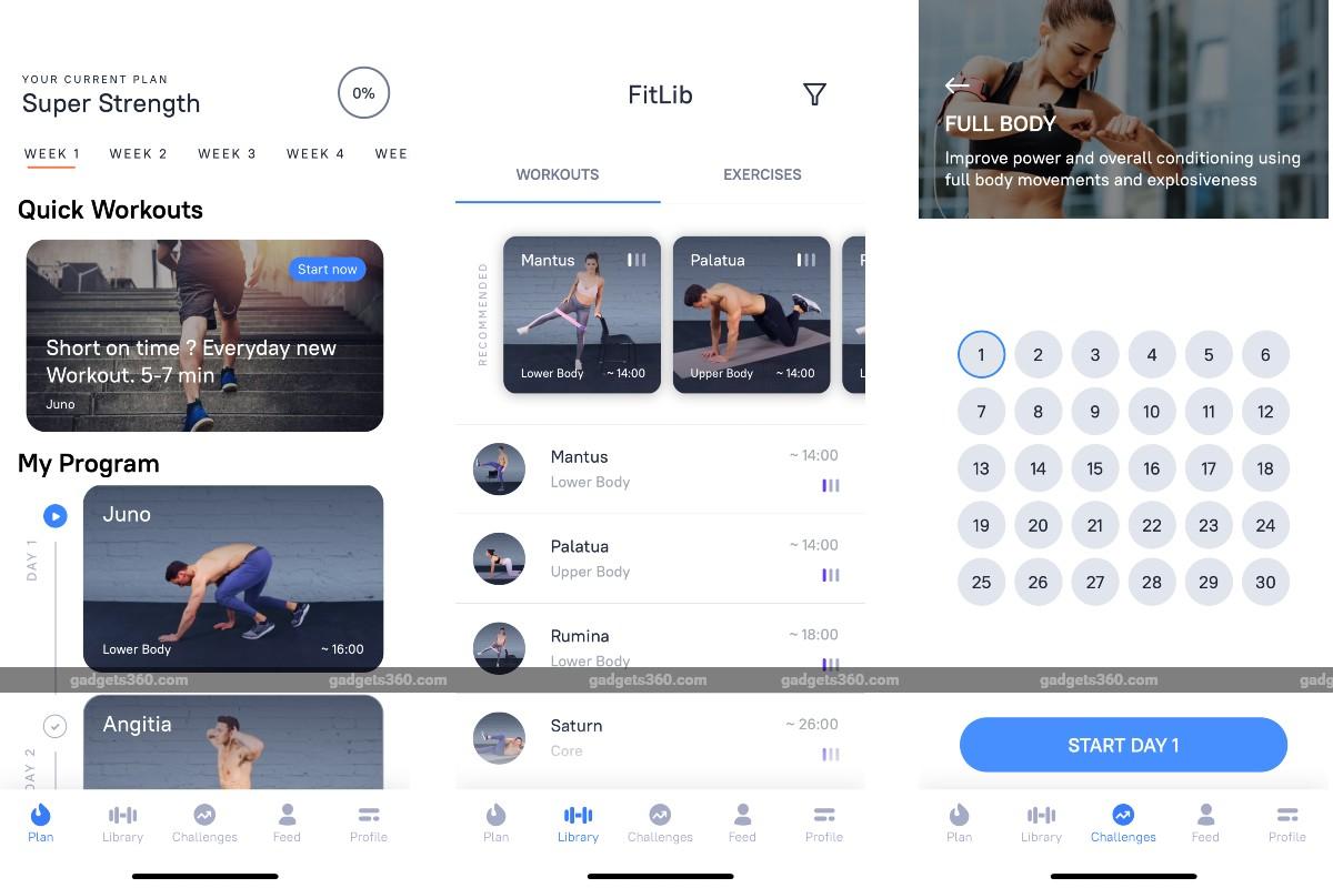 fitness workout app screenshots gadgets 360 Fitness Workout