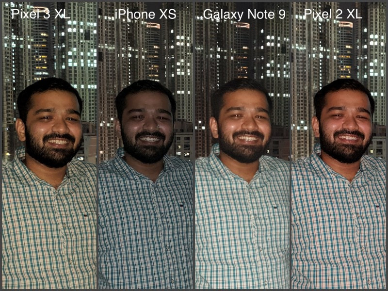 flash pixel 3 100 CROP camera compare