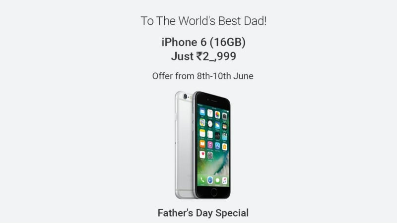 Flipkart iPhone 6 Offer Promises Father's Day Discount on 16GB Model