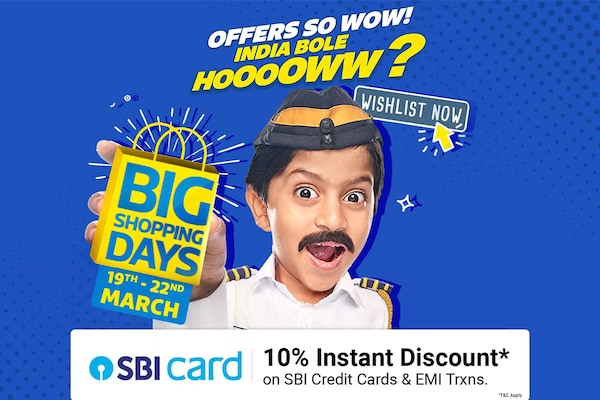 Flipkart Big Shopping Days 2020: Up to 80% OFF + 10% SBI Bank Discount