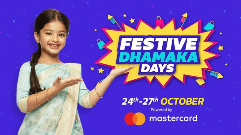 Flipkart Festive Dhamaka Days Sale to Kick Off on October 24