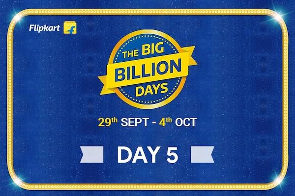 Flipkart Big Billion Days from 29th Sept-4th Oct, Day 5 Highlights of The Biggest Online Shopping Festival!