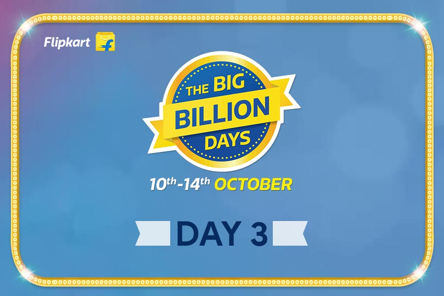 Flipkart Big Billion Days from 10th Oct-14th Oct, Day 3 Highlights of The Biggest Online Shopping Festival!