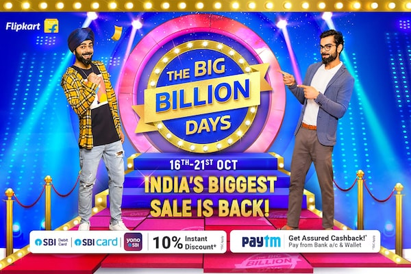 Flipkart Big Billion Days Sale (16th-21st Oct 2020): Best Offers & Deals Up to 80% OFF & 10% Instant Discount