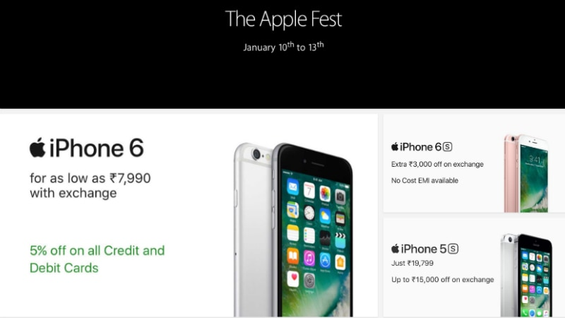 Flipkart Apple Fest: Top Deals on iPhone 7, iPhone 6s, Apple Watch, and More