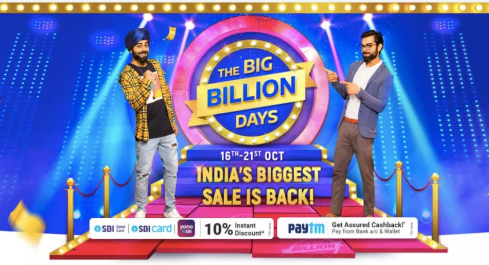 Flipkart Big Billion Days Sale to Start October 16, Will Run for Six Days