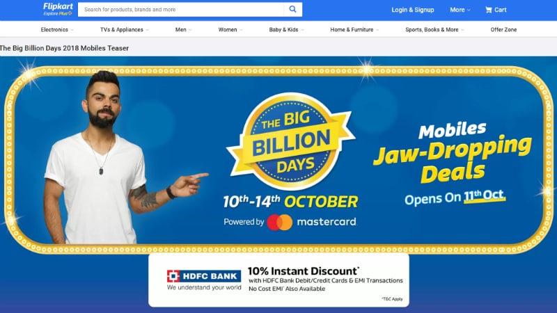 Flipkart Big Billion Days Sale: Nokia 5.1 Plus, Nokia 6.1 Plus, Xiaomi Mi Mix 2, Samsung Galaxy S8 Discounts, and More Offers Revealed