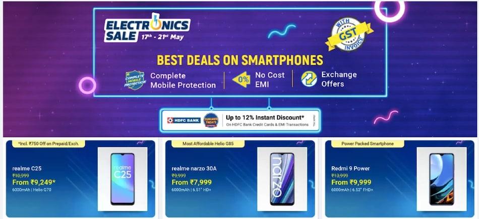Flipkart 'Electronics Sale' शुरू: Realme Narzo 30 Pro 5G, Samsung Galaxy F62 और iPhone 12 मॉडल्स पर बंपर छूट