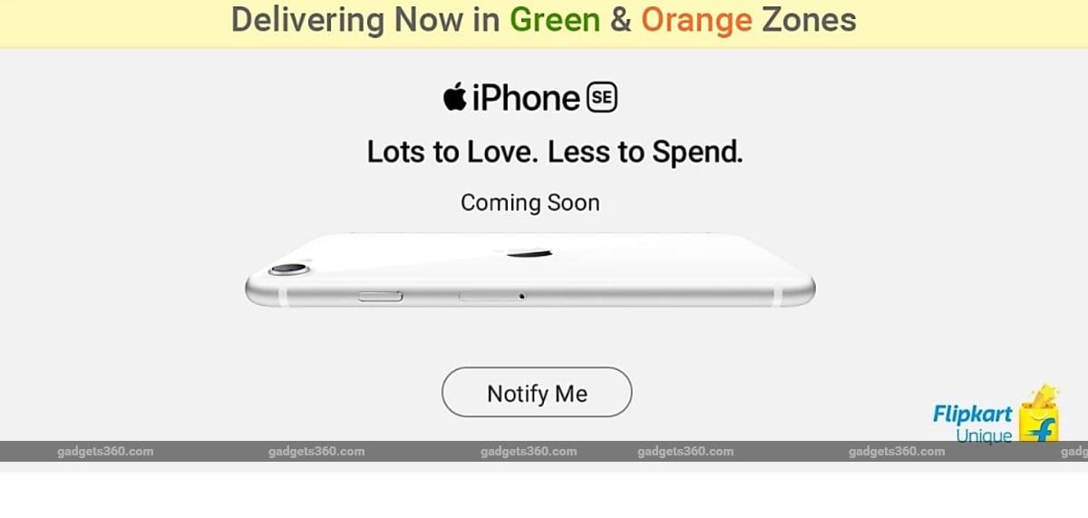 iPhone SE (2020) Teased to Release in India Soon, Flipkart Opens Registrations
