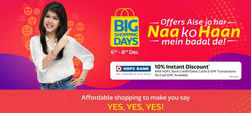 Flipkart Big Shopping Days Sale Starts December 6: Mobile Deals Previewed