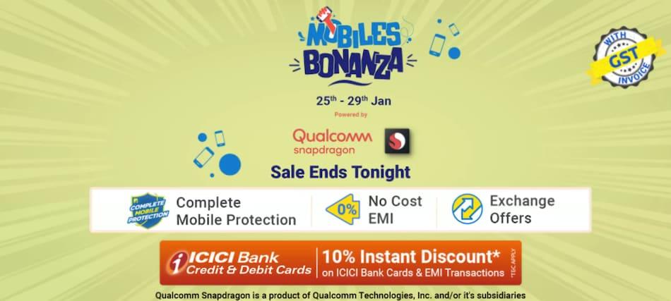 Flipkart Mobiles Bonanza Sale Ends Tonight: Price Cuts on Poco M2 Pro, Mi 10T, iPhone SE, More