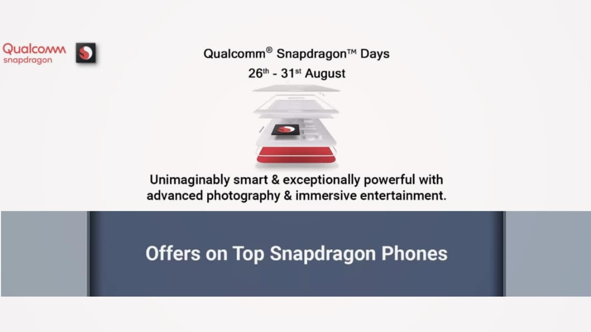 Flipkart Qualcomm Snapdragon Days Sale Offers Discounts on Redmi Note 7 Pro, Poco F1, Vivo V15 Pro, and More