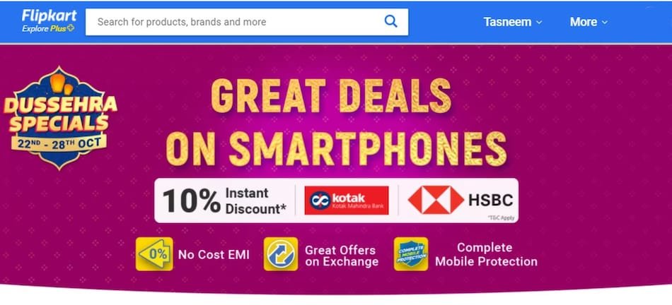 Flipkart Dussehra Specials Sale Begins: Price Cut on iPhone 11 Pro, Realme C3, Poco M2, More