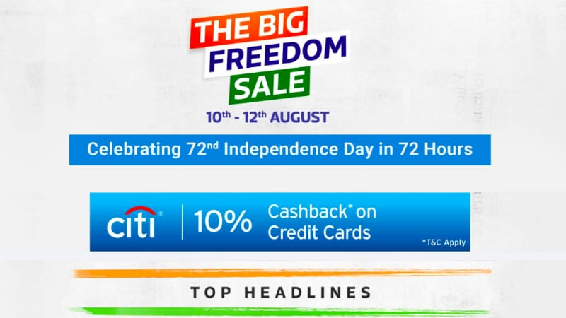 Flipkart Big Freedom Sale Starts August 10 to Take on Amazon