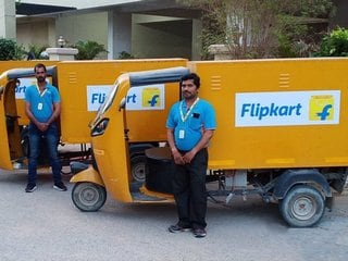 Flipkart to Replace 40 Percent of Its Delivery Vans With Electric Vehicles