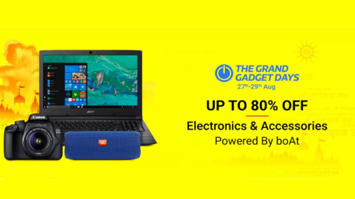 Flipkart Grand Gadget Days Offers Laptops From Rs. 18,990, Tablets From Rs. 3,999, More
