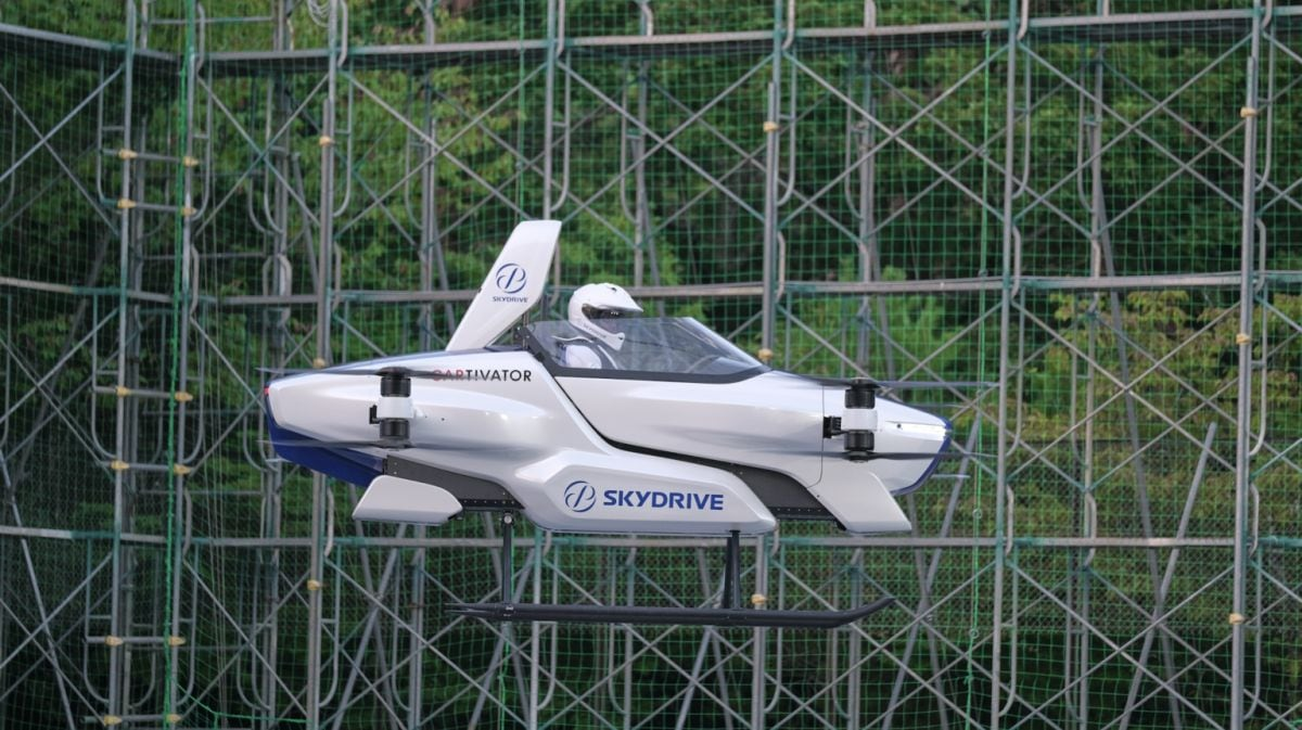Japan's 'flying car' gets off the ground with a person aboard