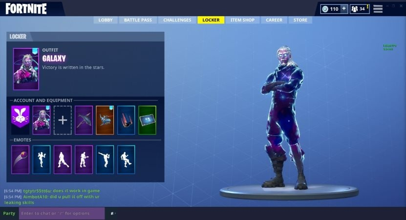 Fortnite's New Galaxy Skin Might Be a Samsung Galaxy-Exclusive