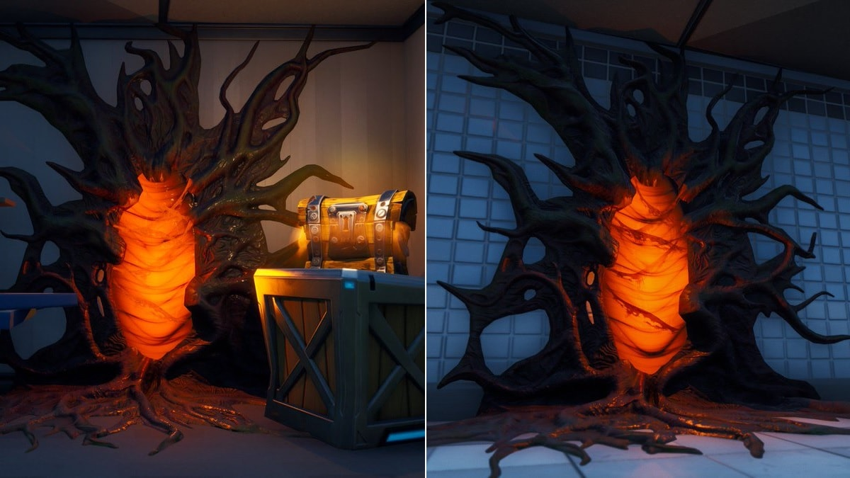 Fortnite Stranger Things Crossover Event Tipped by Upside Down Portals Popping Up in Game
