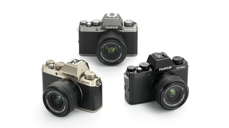 Fujifilm X-T100 Mirrorless Camera With 24.2-Megapixel APS-C Sensor, EVF Launched