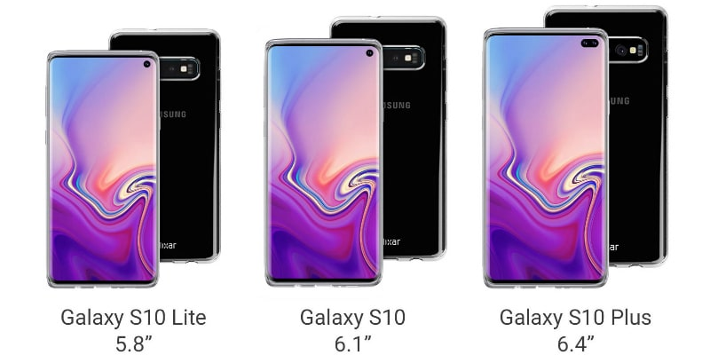 Samsung Galaxy S10, Galaxy S10 Lite, Galaxy S10+ Renders Leak Online, Shows Infinity-O Type Display