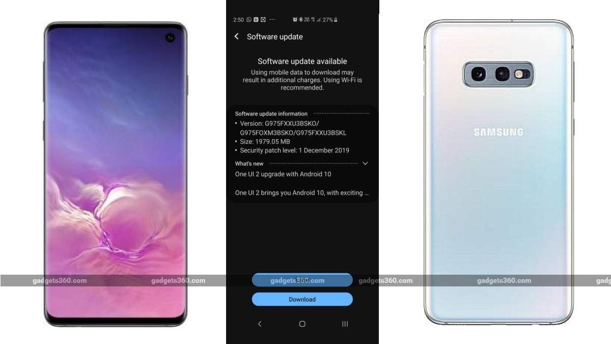 Samsung Galaxy S10 Galaxy S10 Galaxy S10e Starts Receiving Android 10 Update In India With One Ui 2 Technology News