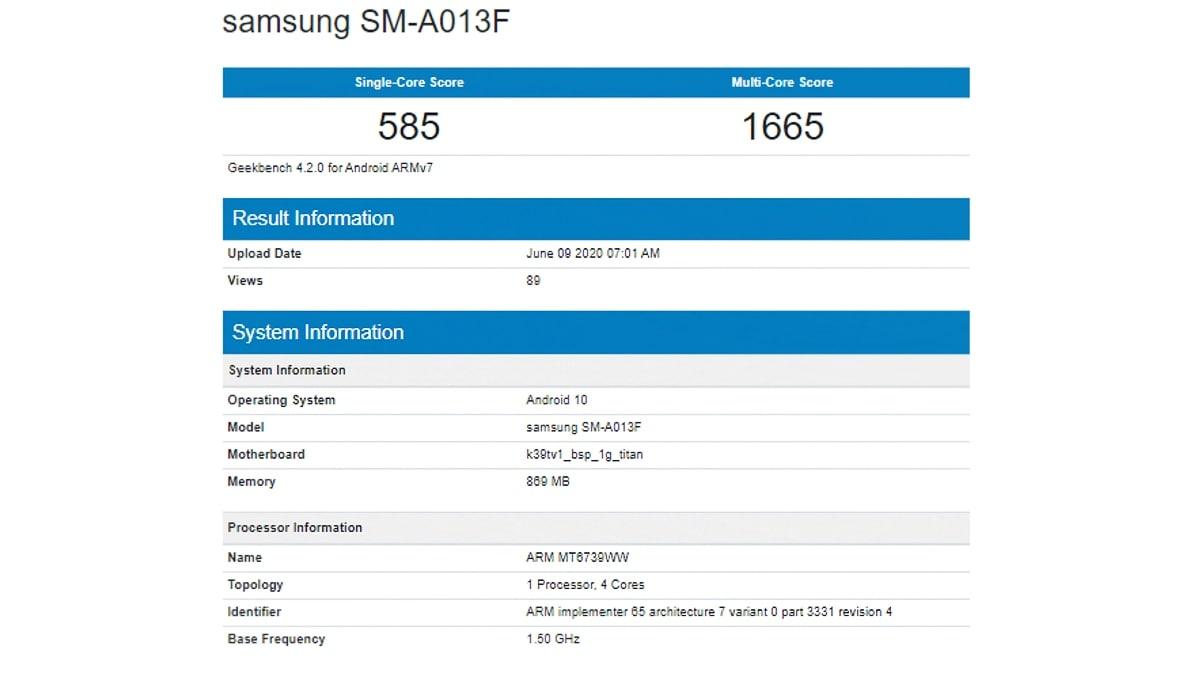 Samsung Galaxy A01e इस सर्टिफिकेशन साइट पर लिस्ट, कई स्पेसिफिकेशन आए सामने