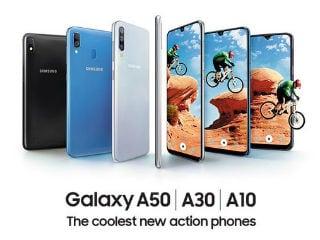 Samsung Galaxy A50, Galaxy A30 और Galaxy A10 स्मार्टफोन आज होंगे भारत में लॉन्च