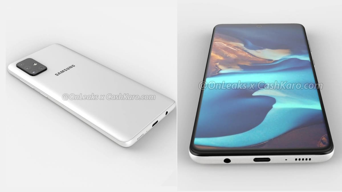 Samsung Galaxy A71 Leak-Based Renders Tip Quad Rear Cameras, Key Specifications Also Leaked