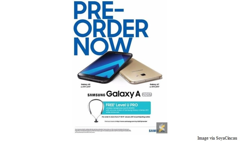 Samsung Galaxy A 2017 Series Price Leaked Ahead of Launch