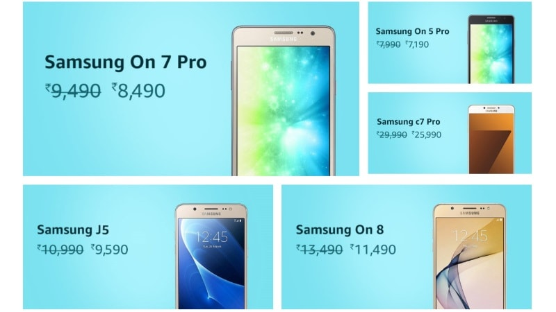 Samsung Mobiles Fest Sale on Amazon India Offers Deals on Galaxy C7 Pro and More