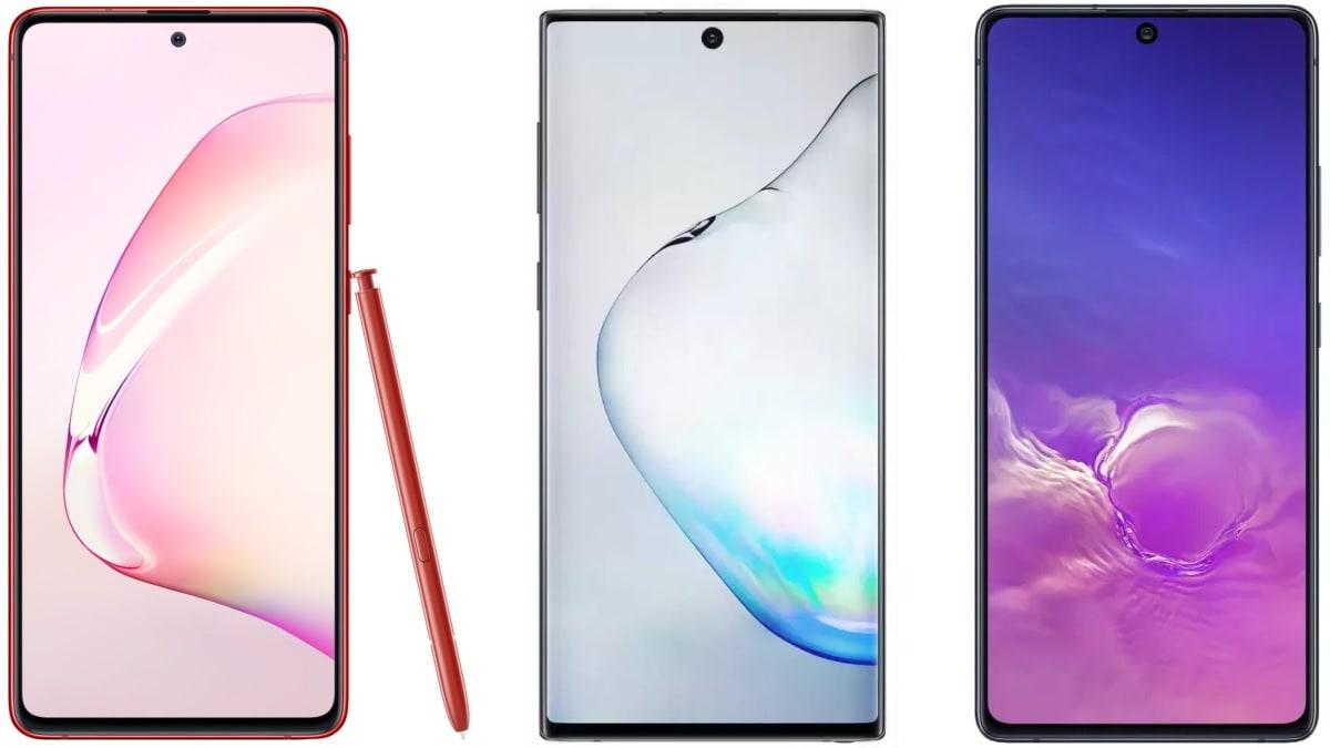 Samsung Galaxy S10 Lite vs Galaxy Note 10 Lite vs Galaxy Note 10: Price in India, Specifications Compared