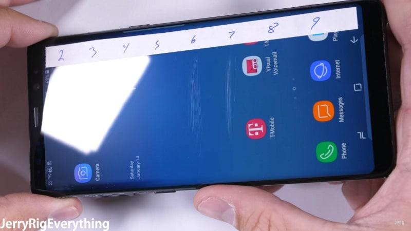 Samsung Galaxy Note 8 Performs Admirably in Durability Test