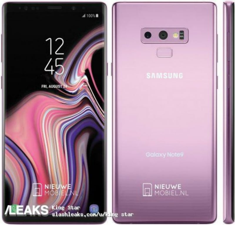 Galaxy Note 9 Live Images, Press Renders Leak Ahead of August 9 Launch