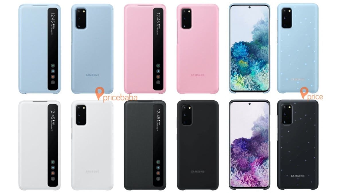 Samsung Galaxy S20 Official Cases, Covers Leaked Ahead of Next Week's Launch