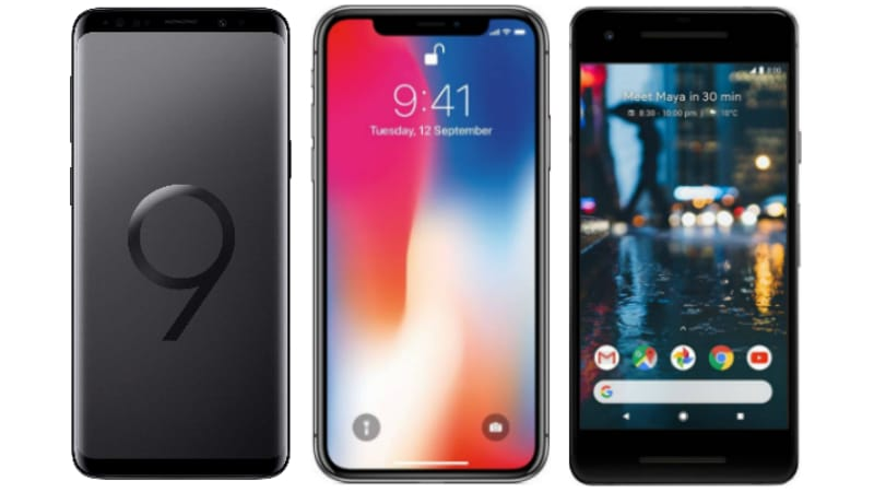Samsung Galaxy S9 vs iPhone X vs Google Pixel 2: Price, Specifications, Features Compared