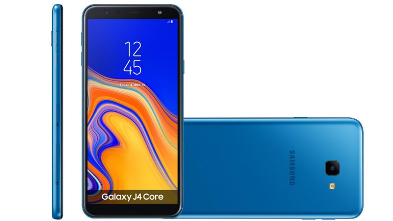 Samsung Galaxy J4 Core Android Go Smartphone With Front Flash Listed Online