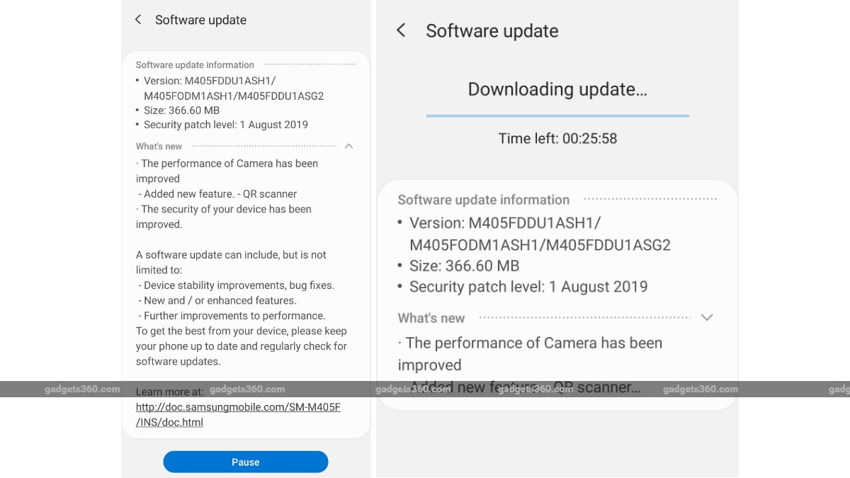 Samsung Galaxy M40 Gets Update in India Brings August Security Patch, QR Scanner, Night Mode: Report
