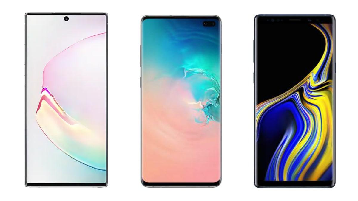 Samsung Galaxy Note 10 vs Galaxy S10+ vs Galaxy Note 9