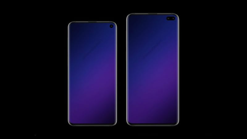 Samsung Galaxy S10, Galaxy S10+ Concept Renders Tip Front and Rear Camera Setups