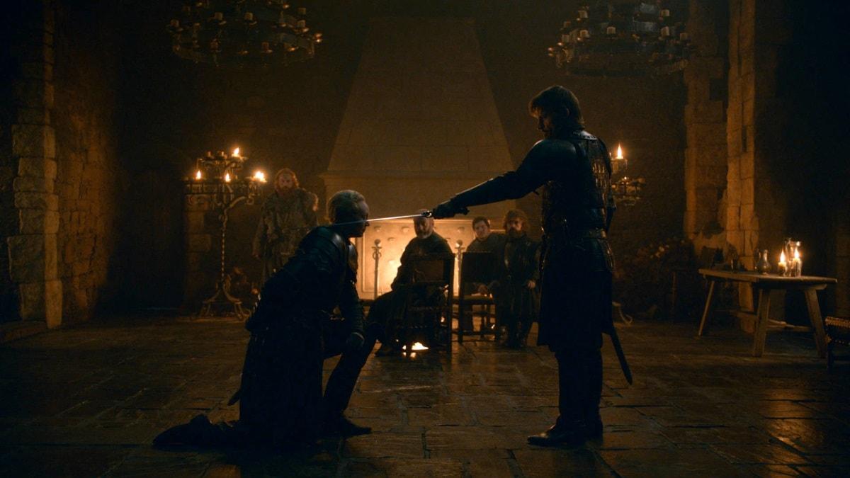 game of thrones season 8 episode 2 brienne jaime Gwendoline Christie Brienne Nikolaj Coster Waldau Jaime Game of Thrones season 8 episode 2