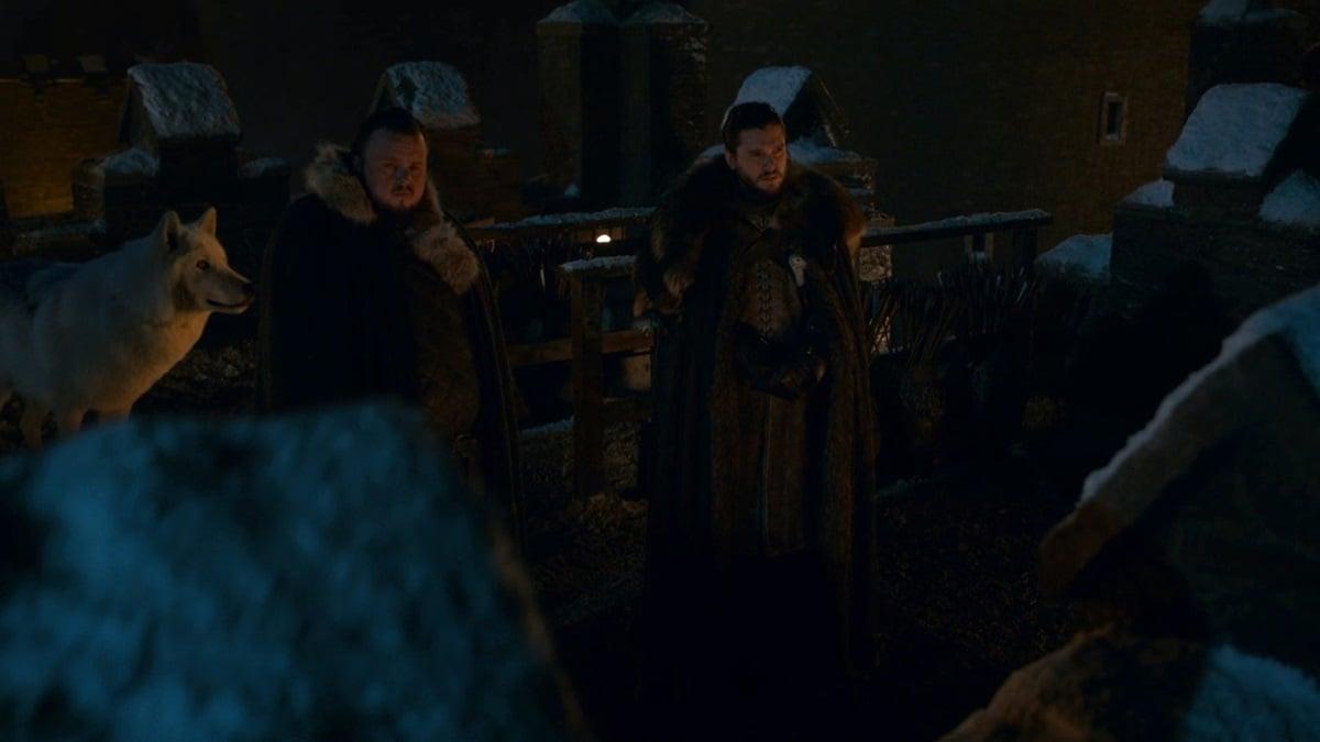 game of thrones season 8 episode 2 ghost direwolf Ghost direwolf Jon Snow Game of Thrones season 8 episode 2