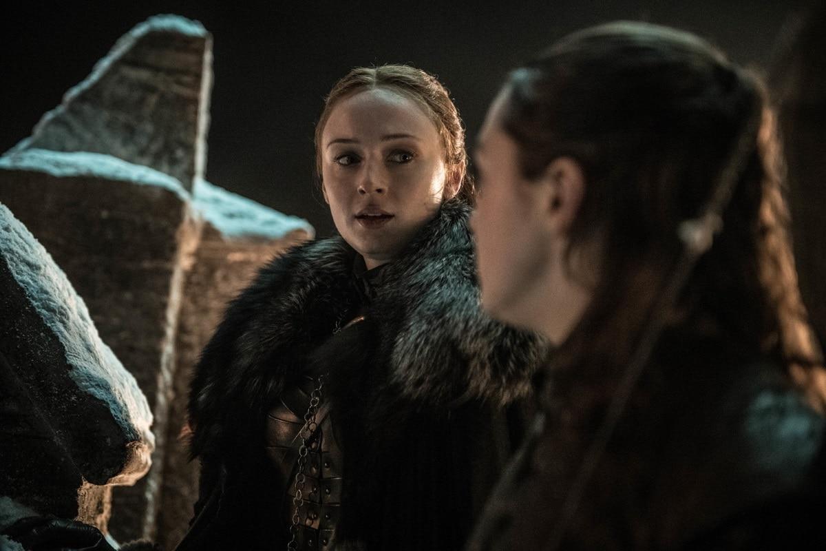 game of thrones season 8 episode 3 sansa arya Sansa Arya Game of Thrones season 8 episode 3