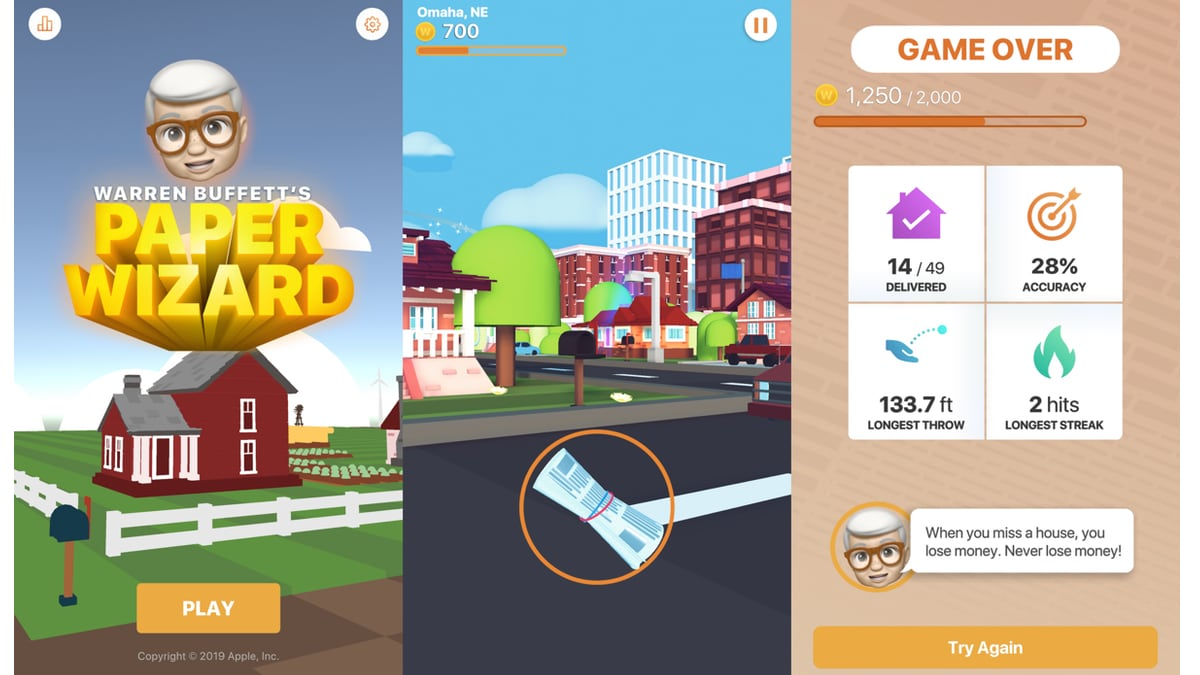 Apple Releases Its Second iPhone Game Ever, Featuring Warren Buffett