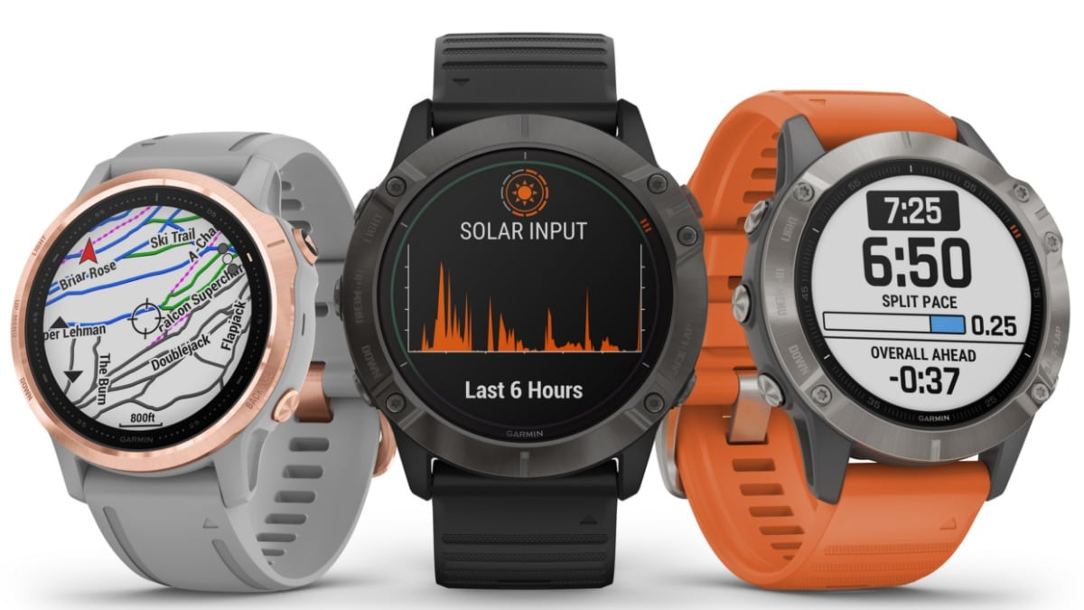 Garmin Fenix 6, Fenix 6S, Fenix 6X Smartwatches Launched With New PacePro Feature, Solar Charging Support