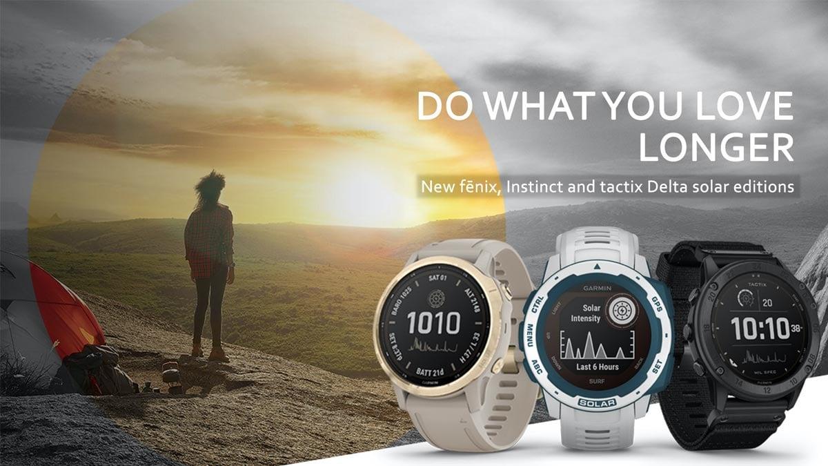 Garmin refreshes Fenix 6, Instinct and Tactix Delta ranges with solar charging